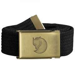 Canvas Brass Belt 3 cm (Black)