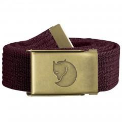 Canvas Brass Belt 3 cm (Dark Garnet)