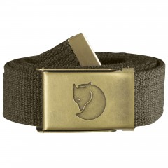 Canvas Brass Belt 3 cm (Dark Olive)