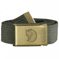Canvas Brass Belt 3 cm (Mountain Grey)