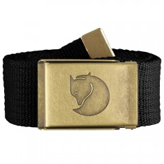 Canvas Brass Belt 4 cm (Black)
