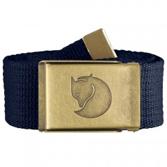 Canvas Brass Belt 4 cm (Dark Navy)