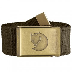 Canvas Brass Belt 4 cm (Dark Olive)