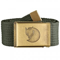 Canvas Brass Belt 4 cm (Mountain Grey)